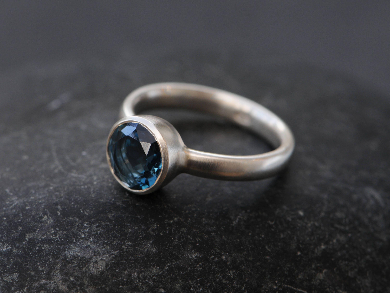 blauer topas verlobungsring london blue topas ring silber. Black Bedroom Furniture Sets. Home Design Ideas