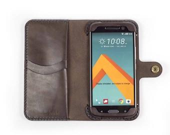 HTC 10 Phone Wallet Case / leather HTC 10 case / HTC 10 wallet