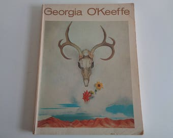 Vintage GEORGIA O'KEEFE ART Book with over 100 Illustrated Prints in Used Book Condition