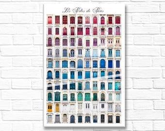 Paris Photograph on Canvas - Les Portes de Paris, Gallery Wrapped Canvas, Paris Urban Decor, Large Wall Art