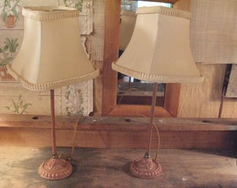 Sweetest Pair of Pink Art Deco Lamps