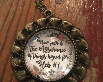 Hebrews 11:1 Pendant Necklace