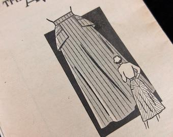Vintage 1940s Sewing Pattern, Skirt, American Weekly, 3802, Sz 28