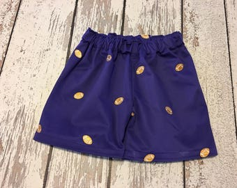 Tigers purple and gold boys shorts, purple and gold boys shorts, baby boy tigers shorts, tigers shorts, purple and gold