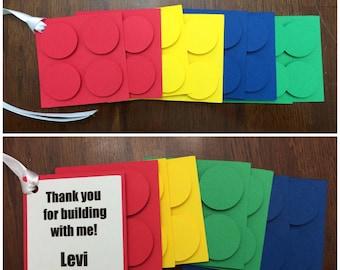 LEGO Themeed Favor Tags (10)