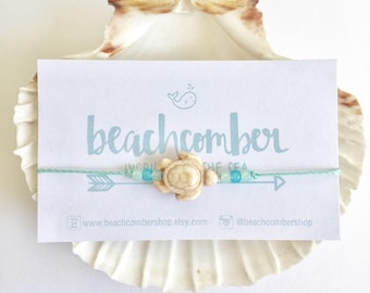 beach anklet, beachcomber jewelry, bohemian anklet, friendship bracelet , beach bracelet , turtle anklet