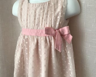 FAO Ice Pink Frilly Baby Dress, 6-9 mos.