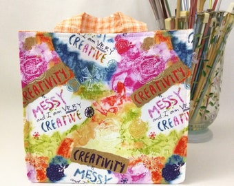 Medium Nest Basket with Organizer Pockets - Creativity is Messy