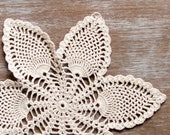 Cream Crochet Doily , ecru Vintage Doily, Table topper