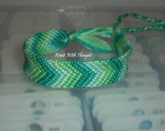 Under The Sea Ombre Chevron  friendship bracelet