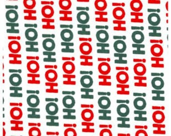 Snuggle Flannel Fabric - Ho Ho Ho - Sold by the Yard