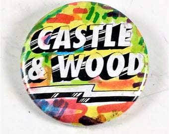 Castle and Wood Underground Comic Pinback Button