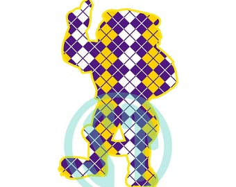 Standing Tiger LSU Tigers Mizzou Clemson Auburn Applique Embroidery Design {ready to sew}