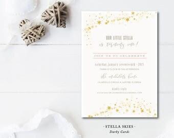 Stella Skies Party Invitations