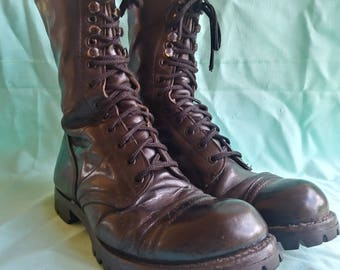 Corcoran Mens Leather Combat Boots 12 eyelet Mens 10
