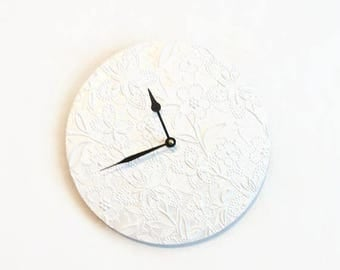 Wall Clock, Floral Clock,  Decor and Housewares, Decor and Housewares, Home and Living,Unique Wedding Gift,