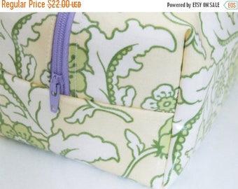 MEMORIAL DAY SALE Waterproof Makeup Bag - Floral Cosmetic Bag - Heather Bailey Fabric