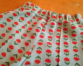 vintage floral nylon short-shorts by kmart size 1-2 years