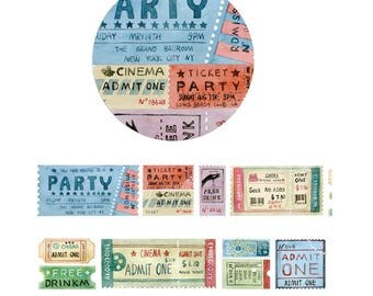 Diary Scrapbook Adhesive Masking Deco Washi Tape - Cinema Party Ticket