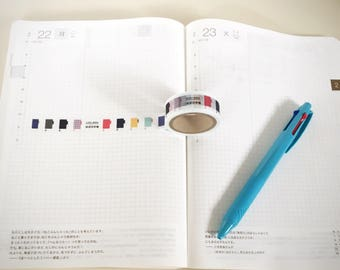 Hobonichi tape, planner Washi tapes, craft tapes for bullet journal, planner stickers, bullet journal supplies  hobonichi stickers,