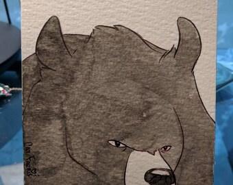 InktoBEAR: Grumpy Moon Bear