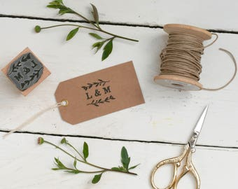 Natural Sprig Monogram Stamp
