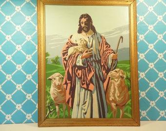 Vintage Jesus Paint By Numbers Painting