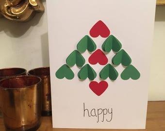 10 x Xmas tree cards