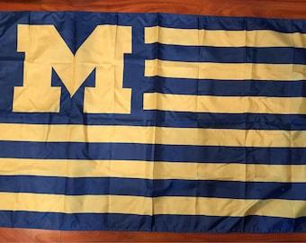 University of Michigan Wolverines 3 X 5 Feet Flag Banner NCAA College University Fan Stars Stripes