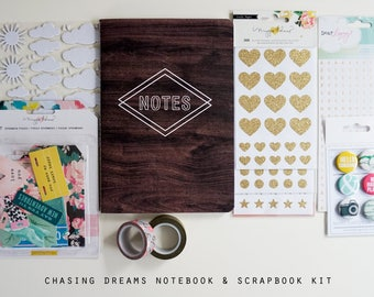 Chasing Dreams Notebook and Scrapbook Kit
