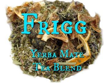 Frigg Yerba Mate Tea Blend - lemongrass, lavender, vanilla, blueberries, lemon, coconut, Norse mythology, Norse goddess, Vikings
