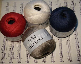 Stellina from Lang Yarns - FREE SHIPPING (from the second ball) - premium luxury silk cotton blend - only 8.49 USD