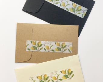 Lemon Favors Sachets Industrial Chic Design Wedding Favors Lemon Botanical Print Matte Black Yellow Kraft Brown Limoncello Tags Personalized
