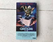 Gremlins VHS movie tape 1984 classic thriller science fiction Steven Spielberg