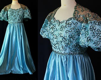 Mike Benet Plus Size Dress, Ball Gown, MOB Dress, Sequined Costume
