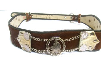 Unique Pony Hair Coin Belt from Argentina