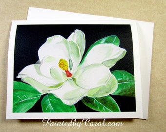 Magnolia Note Cards, Blank Magnolia Note Card Set, Magnolia Greeting Cards, Note Cards with Magnolia, Magnolia Lovers Cards, Set of Cards