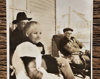 Original Antique Photograph | Porch Visiting