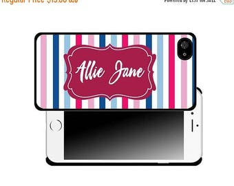 ON SALE NOW Stripe Personalized Printed Cell Phone Case / iphone 5/5s / iphone 6/6s and 6+ / Gift Idea / Gift for her / Teacher Gift