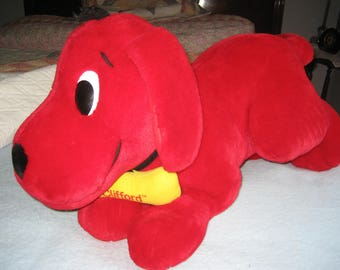 Giant Clifford the Big Red Dog Plush Character - Rare XL 30 Inches - Scholastic Label