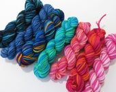 Collection G Sock yarn minis, 7 - 25 yds each, 175 yds total