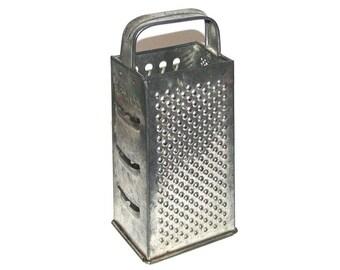 Vintage 50s 60s BROMCO Silvertone Metal Box Grater