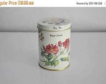 ON SALE Vintage Floral Flower Tin Made in England
