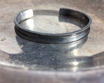 Oxidized Cuff Bracelet Oxidized Silver Bracelet Black Patina Bracelet Gun Metal Bracelet Black Silver Oxidized Jewelry Cuff Bracelets