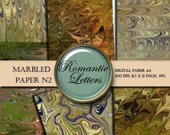 Sale 60% Marbled digital paper pack N2 -  scrapbooking, invitations card making  jpg origami  jewelry making
