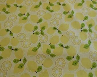 1 Yard of Maude Asbury Tutti Fruitti - Lemons Blend Fabrics Yellow