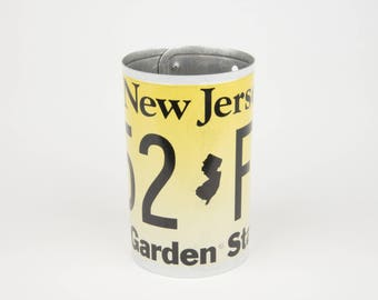 New Jersey License Plate Pencil Holder - Back to School supply - Dorm Room Decor - Graduation Gifts - New Jersey souvenir