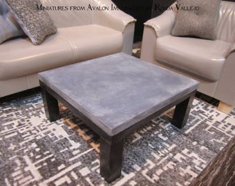 1:6 Scale Coffee Table Barbie Furniture ~ Solid Wood Hand Built Modern  Contemporary Faux