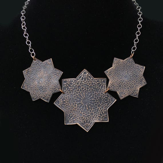 Moravian Star Trio Necklace
