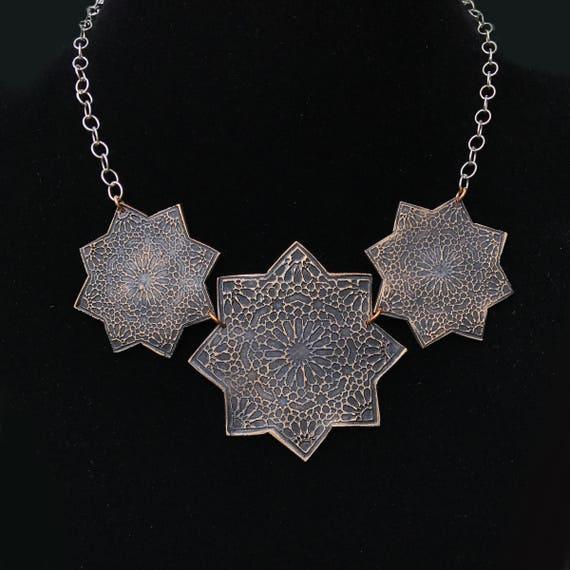 Moravian Star Trio Necklace